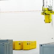 Behälter im Abfall-Zwischenlager Unterweser 2