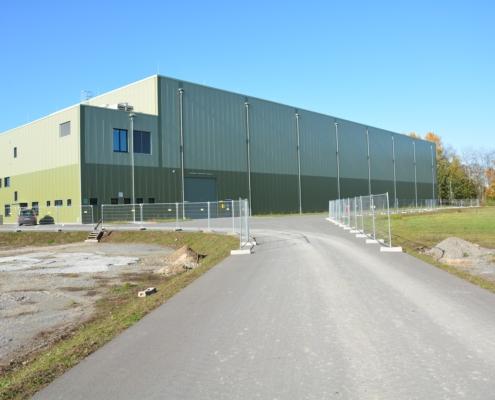 Das Abfall-Zwischenlager Grafenrheinfeld (AZR) für schwach- und mittelradioaktive Abfälle. Foto: Andreas Fassnacht